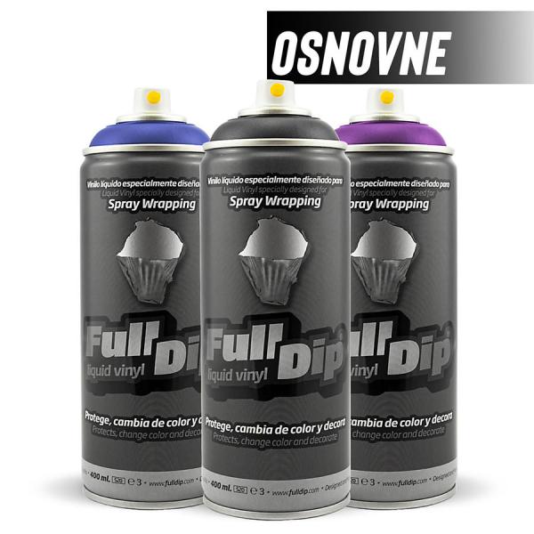 full dip sprej barva osnovna tekoča guma zaščita